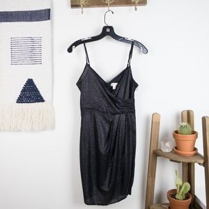URBAN OUTFITTERS - Shiny Woven Black Dress